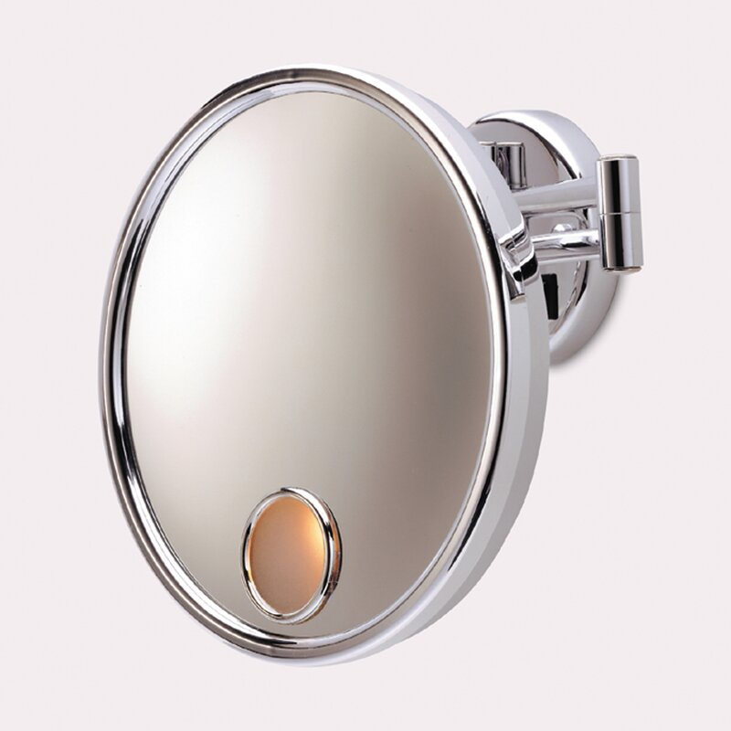 Wall Mounted Makeup Mirror Lighted jerdon euro hard wired wall mount lighted mirror & reviews | wayfair