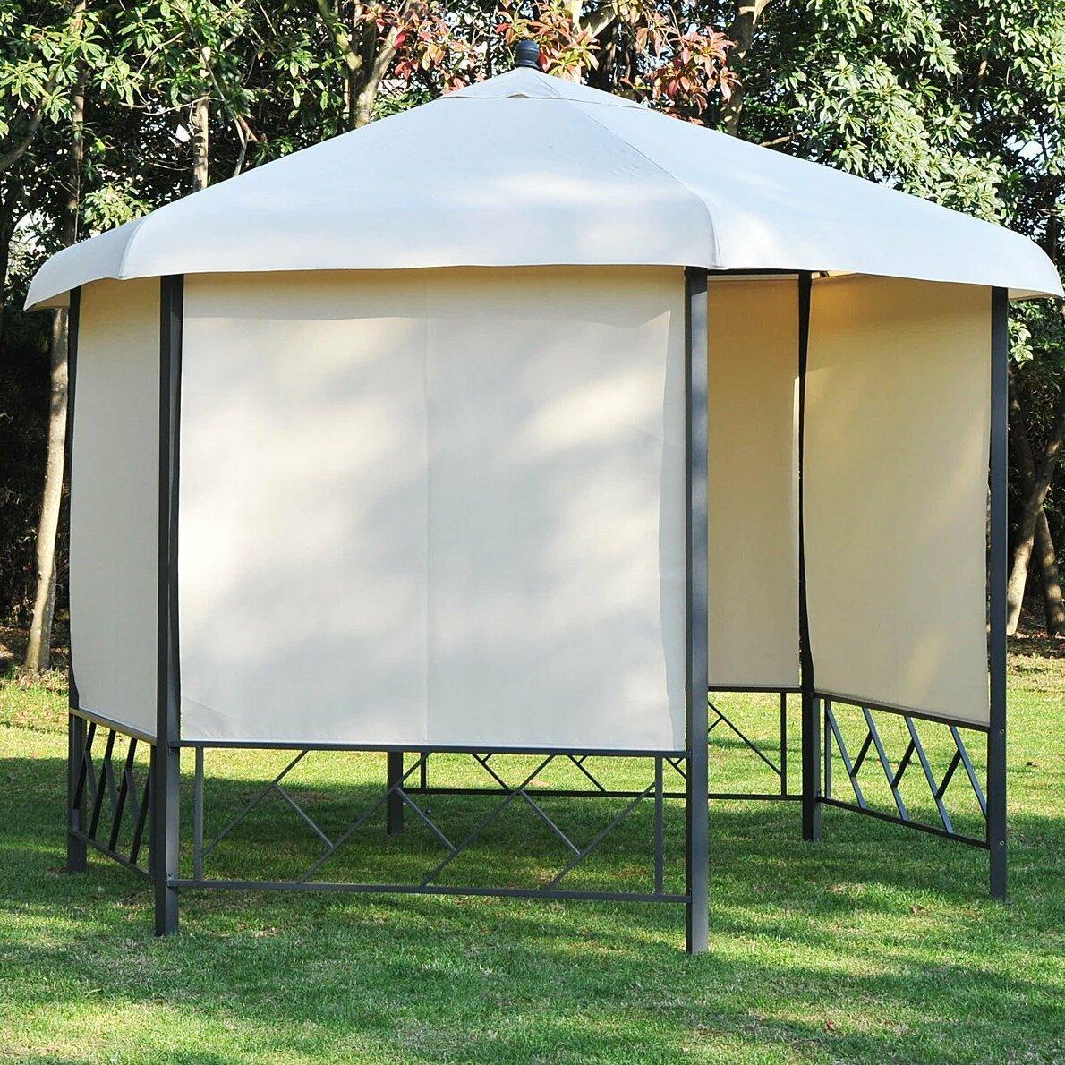 bel tage 3 5 m x 3 5 m pavillon outsunny aus metall. Black Bedroom Furniture Sets. Home Design Ideas