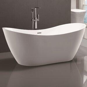 71 X 31 5 Freestanding Soaking Bathtub