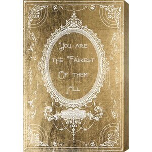 The Fairest Gold Graphic Art on Wrapped Canvas