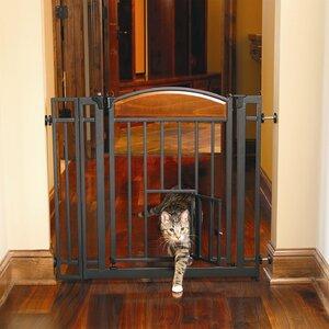 Gayle Design Studio Walk Through Pet Gate with Small Pet Door