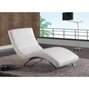Modern & Contemporary White Chaise Lounge Indoor | AllModern