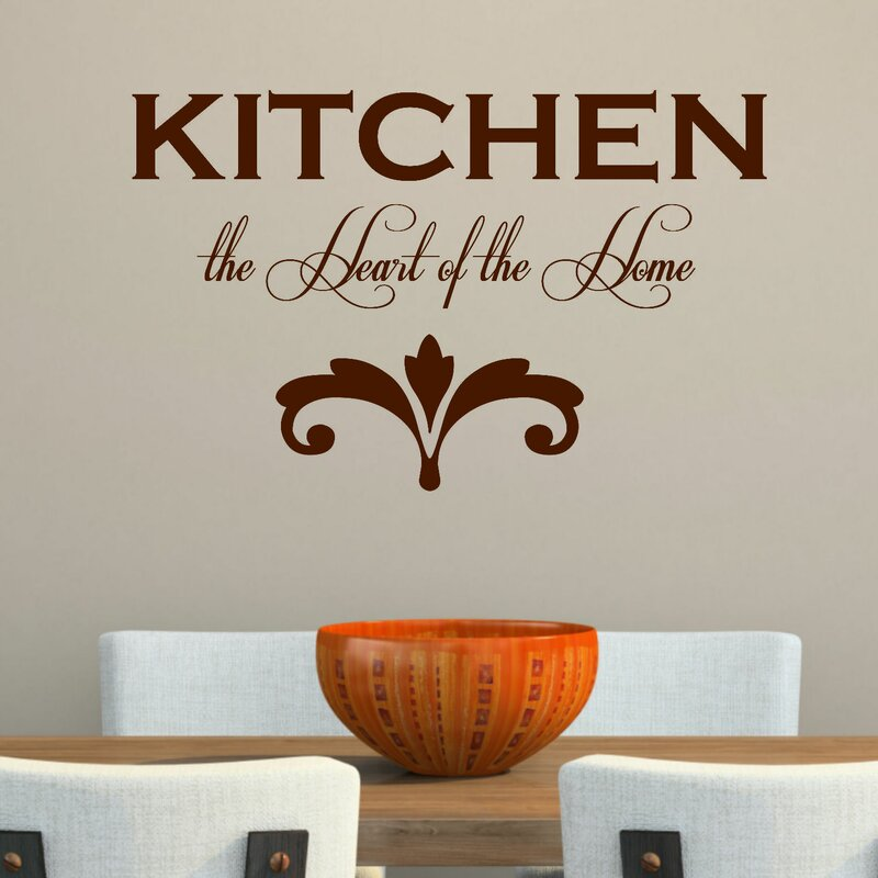 Kitchen The Heart Of The Homeu0027 Wall Decal