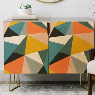 The Old Art Studio Modern Geometric Credenza