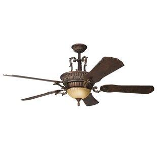 Battery operated ceiling fan wayfair 60 raubsville 5 blade led ceiling fan aloadofball Gallery