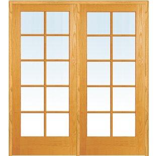 Wood 2 Panel Natural Interior French Door