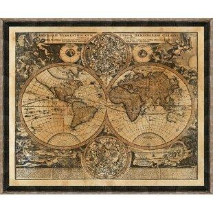 Drexel heritage frame wayfair heritage world map framed giclee print gumiabroncs Image collections
