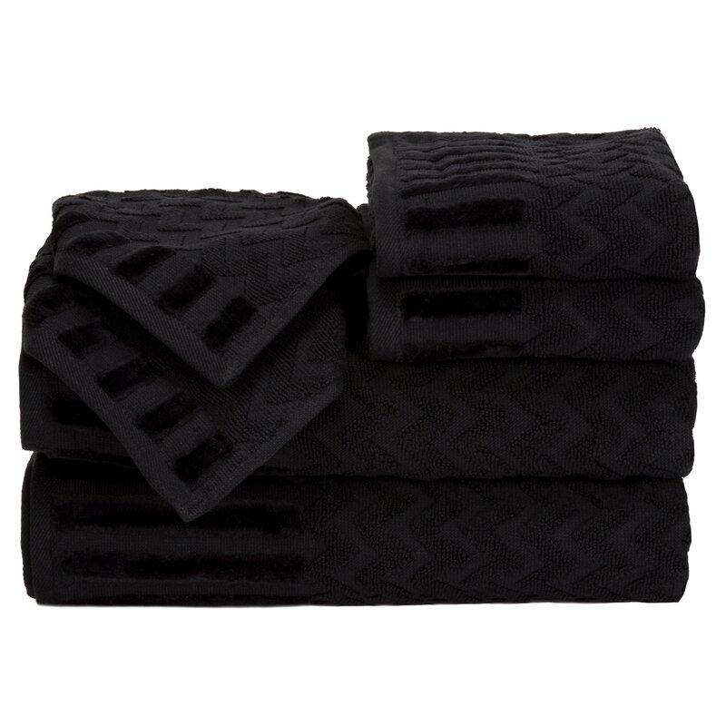 Black And White Chevron Hand Towels: Zipcode Design Regina 6 Piece Chevron Towel Set & Reviews