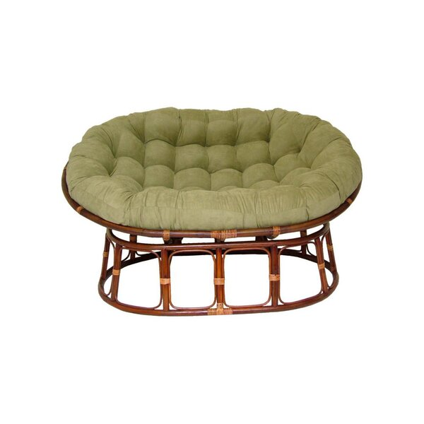 papasan furniture. international caravan rattan double papasan chair with micro suede cushion u0026 reviews wayfair furniture