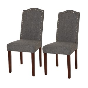 Lepore Upholstered Nailhead Parsons Chair (Set of 2) by Ivy Bronx