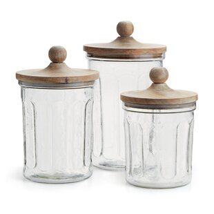 Cottage U0026 Country Glass Kitchen Canisters U0026 Jars Youu0027ll Love ...