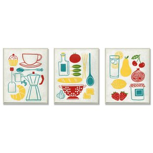 U0027Sunday Breakfast, Dinner And Picnicu0027 3 Piece Kitchen Wall Plaque Set