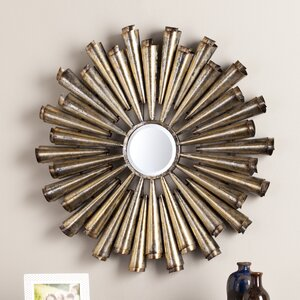 Galvanized Silver and Gold Decorative Wall Mirror