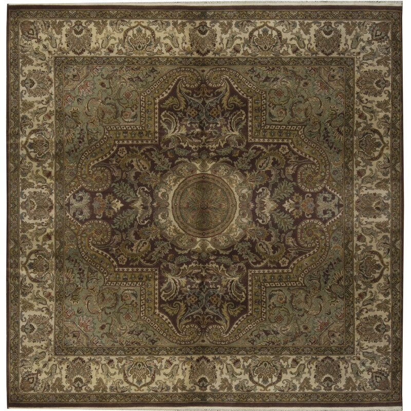Bokara Rug Co., Inc. One-of-a-Kind Magnolia Hand-Knotted Square 8 Wool Brown/Beige Area Rug