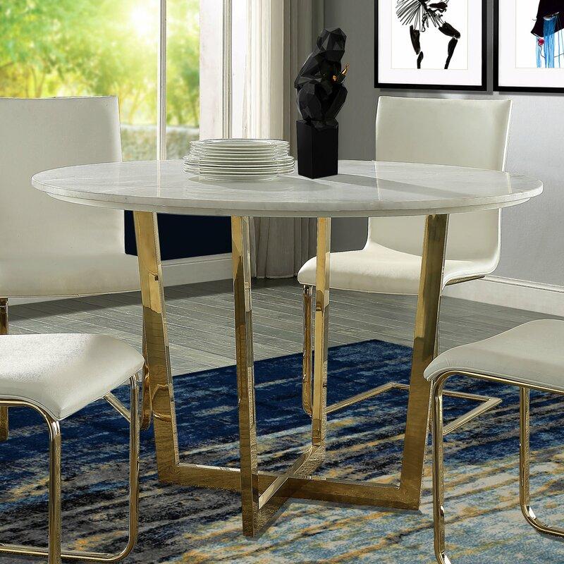 Willa Arlo Interiors Natanael Marble Dining Table