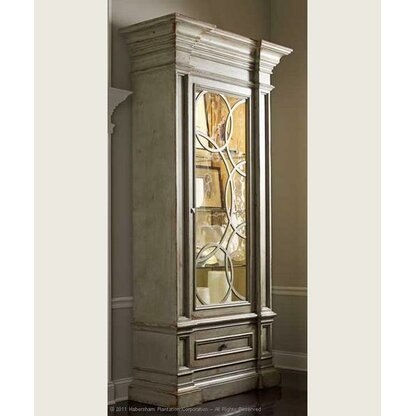 American Treasures Nantucket Display Accent Cabinet. Habersham