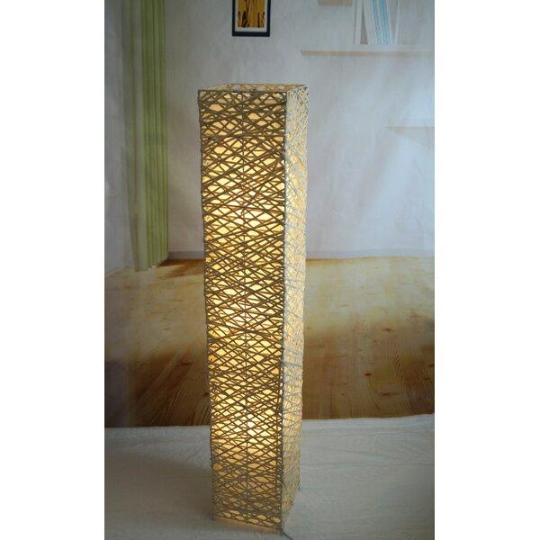 Californialighting rectangle bamboo woven 52 led column floor lamp californialighting rectangle bamboo woven 52 led column floor lamp reviews wayfair aloadofball Images