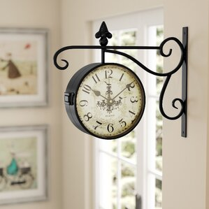 round chandelier doublesided wall hanging clock