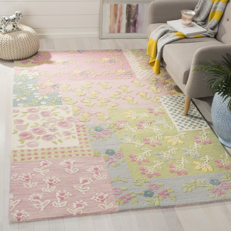 Kids Hand-Tufted Pink/Green Area Rug & Reviews