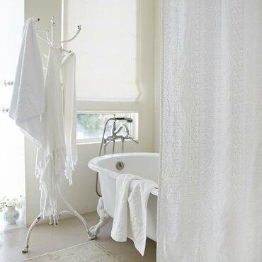 linen shower curtain white. Boho Embroidered Linen Shower Curtain Curtains  Perigold