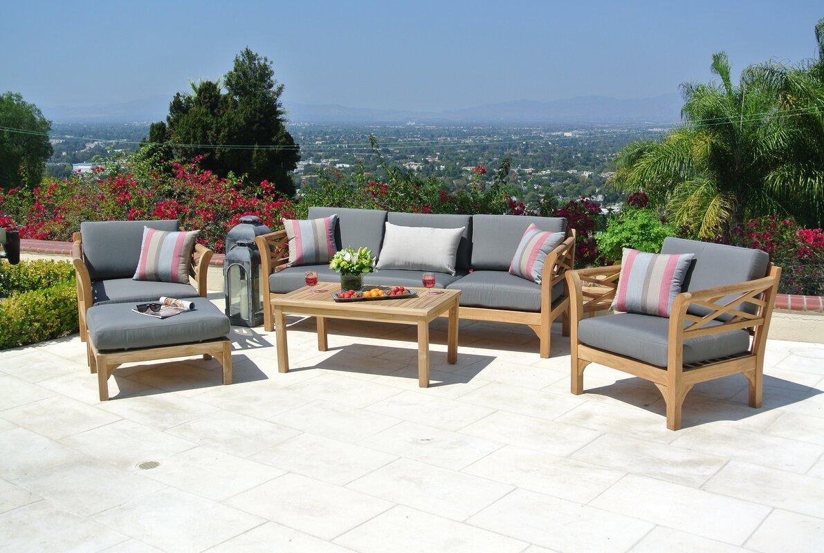 malibu 8 seater patio furniture set. malibu outdoor teak 6 piece deep sunbrella seating group set with cushions 8 seater patio furniture