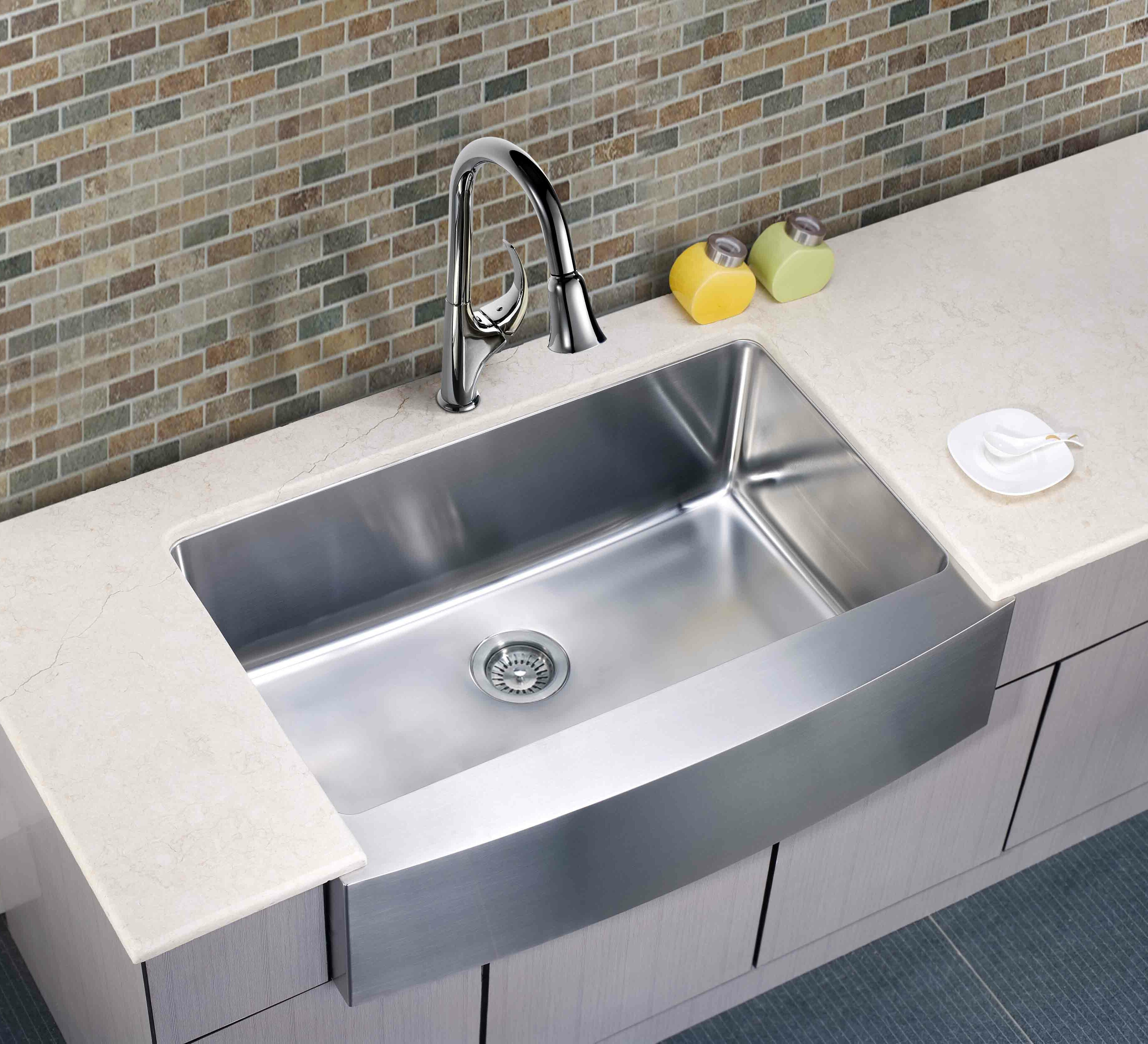 Single Bowl Kitchen Sink 33x22