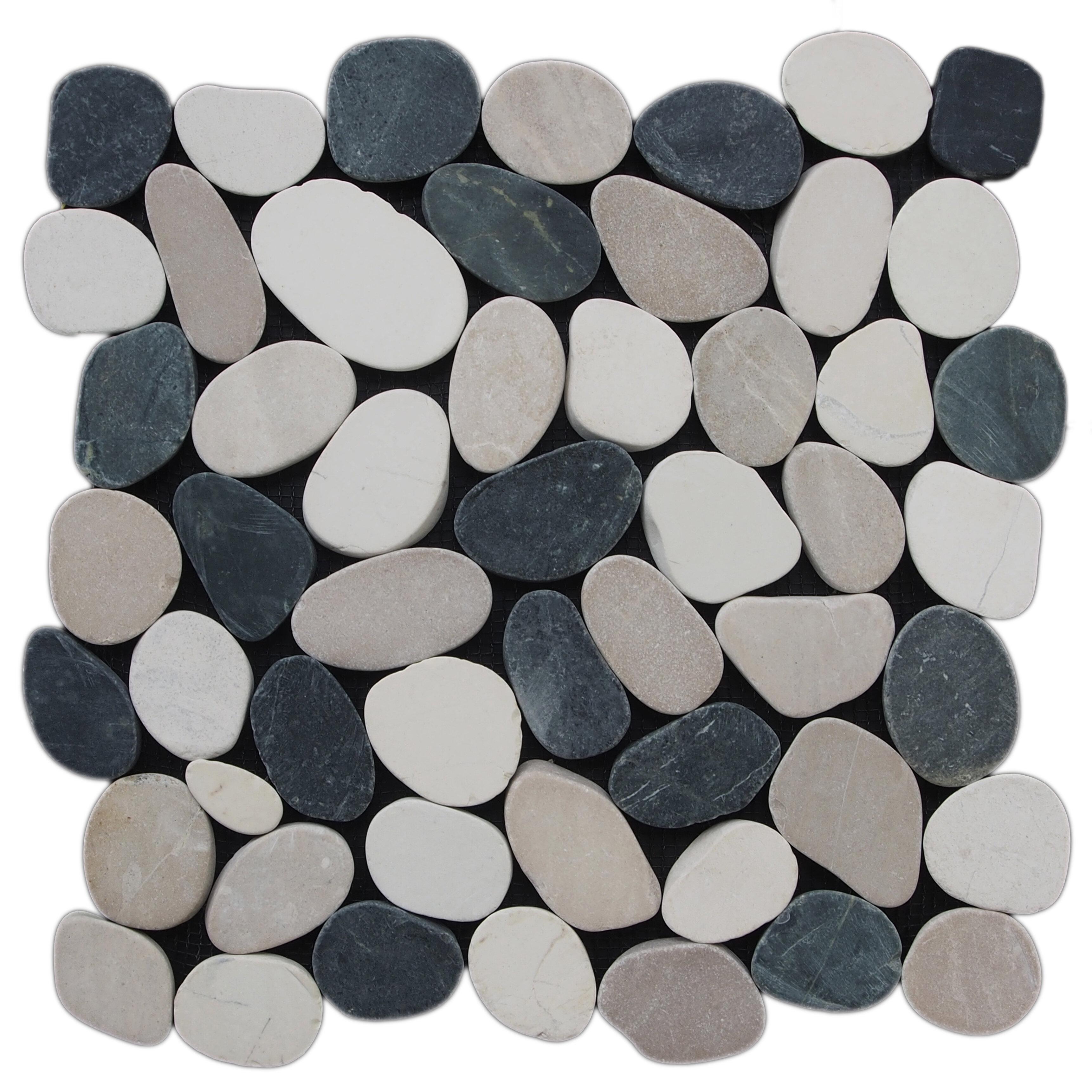 Pebble Tile 12 X Natural Stone In Black White Reviews Wayfair