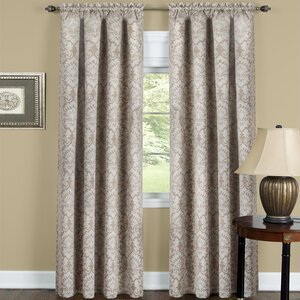 Beauvale Damask Blackout Rod Pocket Single Curtain Panel