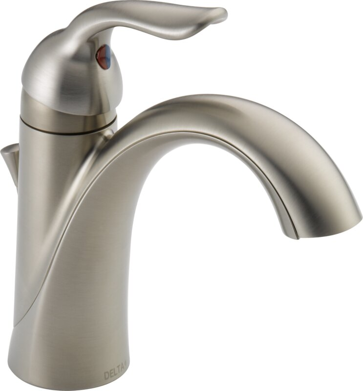 Bathroom Faucets Wayfair delta lahara standard lever handle bathroom faucet & reviews | wayfair