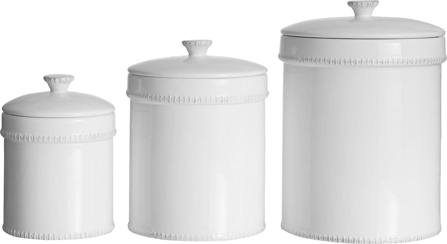 birch lane farnol 3 piece kitchen canister set reviews wayfair default name