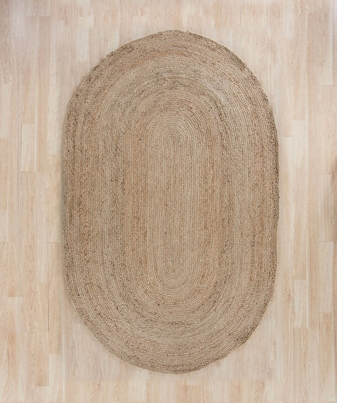 Charlton Home Chatham Hand Woven Wool Light Tan Area Rug
