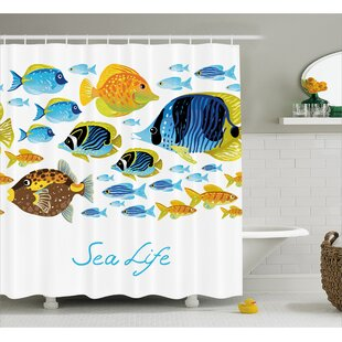 Sea Life Decor Shower Curtain