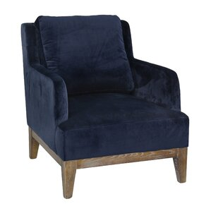 blue velvet accent chairs you'll love | wayfair