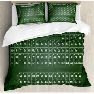 Periodic Table Chemistry Science Inspirational Elements Educational Art For Class Duvet Cover Set