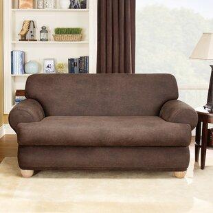 Stretch Leather T Cushion Sofa Slipcover Set