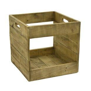 Record Storage Wood Crate  sc 1 st  Wayfair & Vinyl Record Storage Box | Wayfair