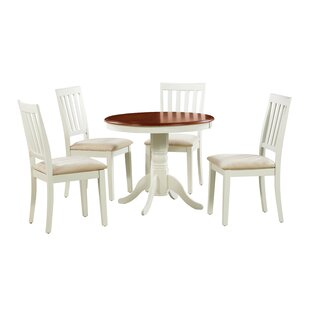 Coby 5 Piece Solid Wood Dining Set Discount