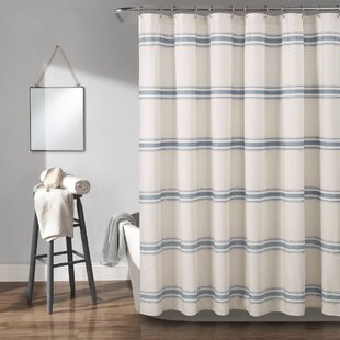 Matterson Stripe Cotton Single Shower Curtain