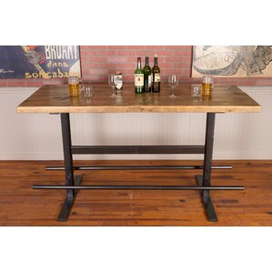 Industrial Iron and Reclaimed Wood Pub Table by Napa East Collection