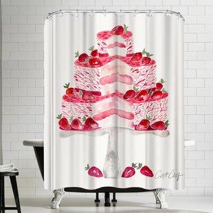 Strawberry Short Cake Shower Curtain