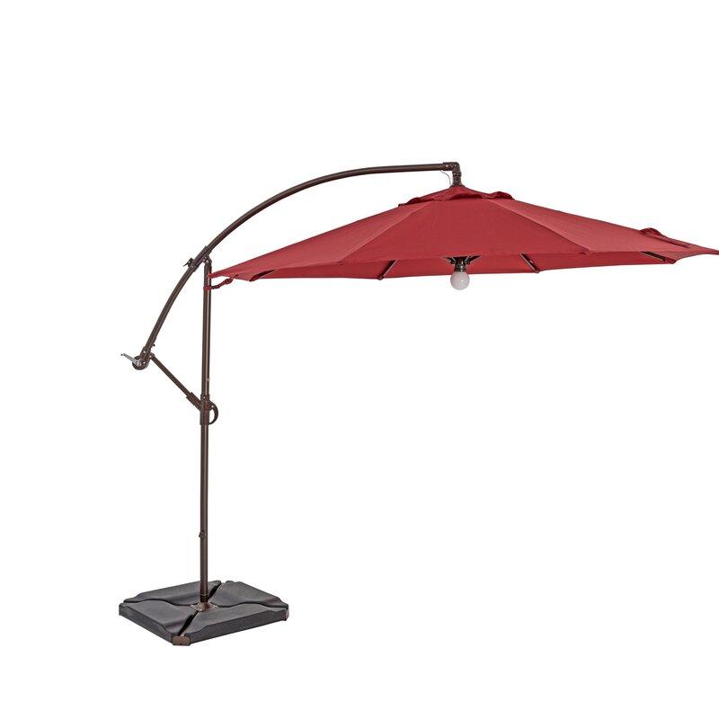 how to close stuck cantilever umbrella