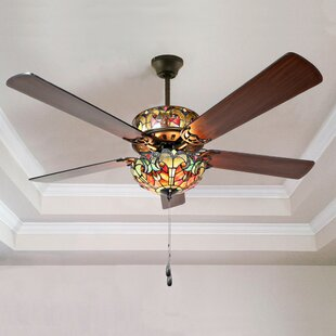 Stained glass ceiling fan wayfair save aloadofball Images