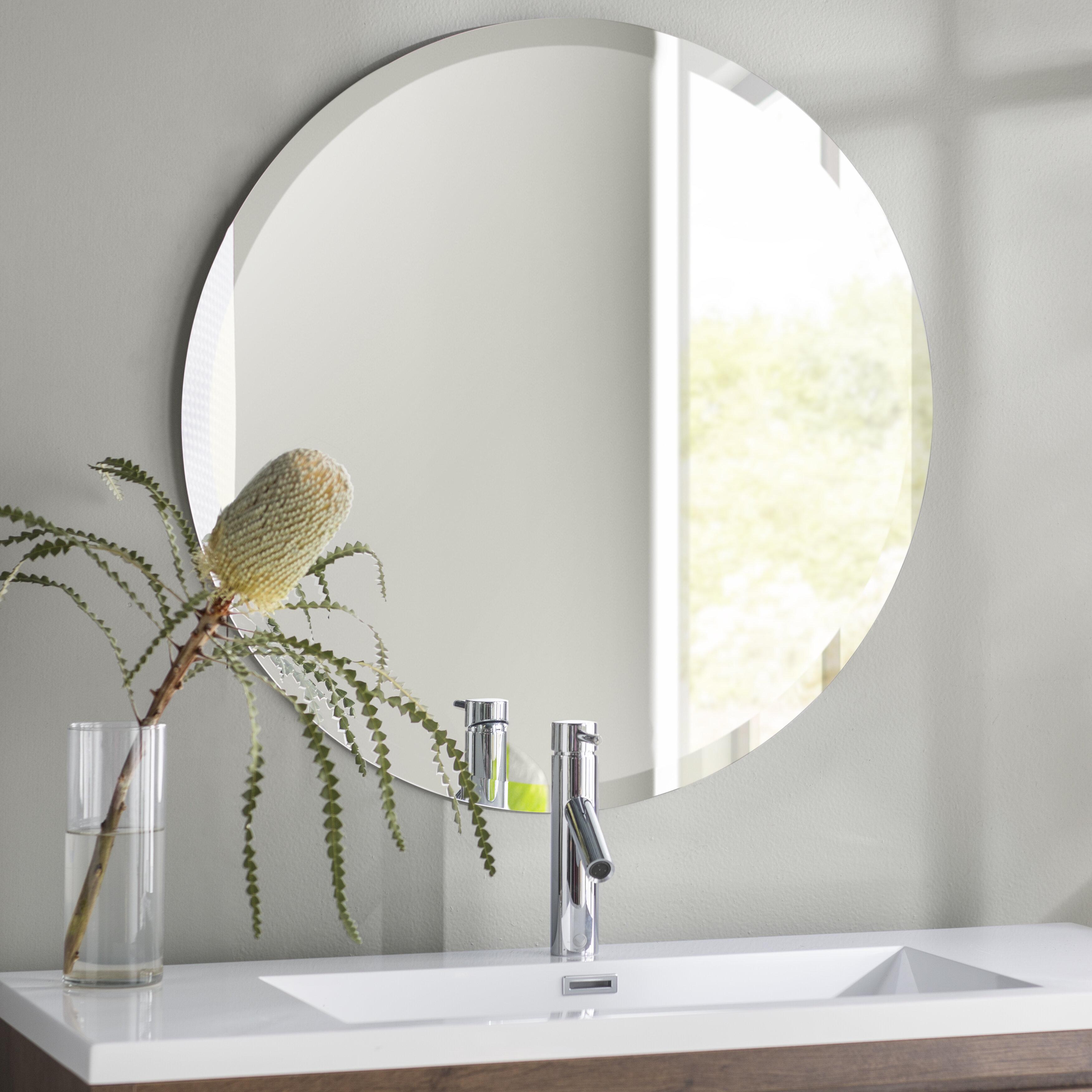 Langley Street Greyson Frameless Round Wall Mirror Reviews Wayfair
