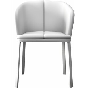Thadine Genuine Leather Upholstered Dining Chair