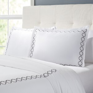 Bernice Embroidered 300 Thread Count 100% Cotton Duvet Set