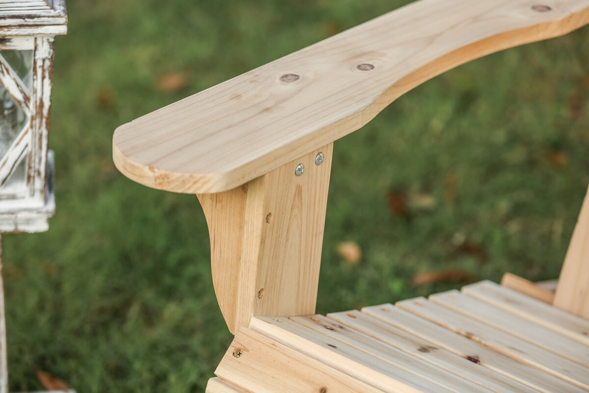 Steadman Solid Wood Adirondack Chair