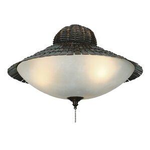 3-Light Bowl Ceiling Fan Light Kit  sc 1 st  Wayfair & Outdoor Ceiling Fan Light Kits Youu0027ll Love | Wayfair azcodes.com