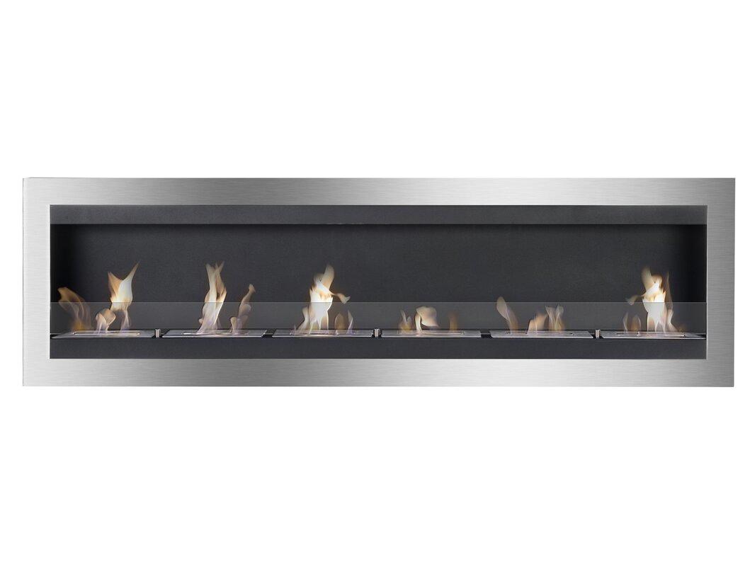 ignis maximum wall mount ethanol fireplace u0026 reviews wayfair