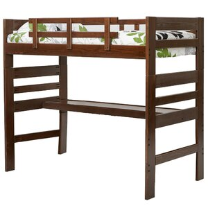 Durell Loft Twin Bed with Desk