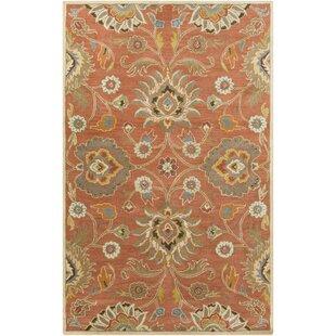 burnt orange rug. Phoebe Burnt Orange Hand-Woven Wool Area Rug